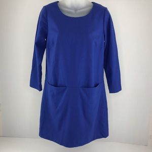 J. Crew Blue Shift Dress
